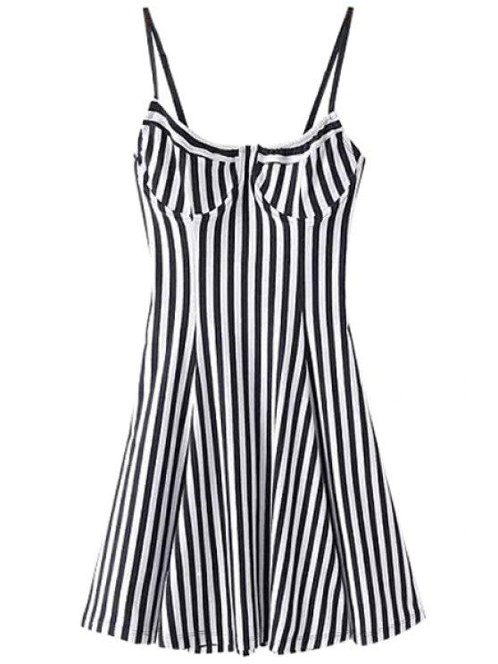 new Spaghetti Strap Stripe Dress - STRIPE S