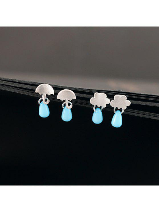 sale Pair of Cute Beads Umbrella Cloud Earrings For Women - RANDOM COLOR PATTERN