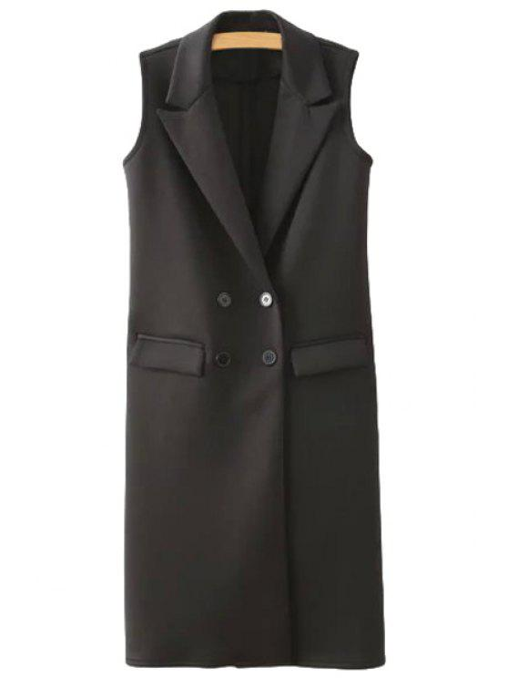 shop Black Lapel Waistcoat - BLACK S