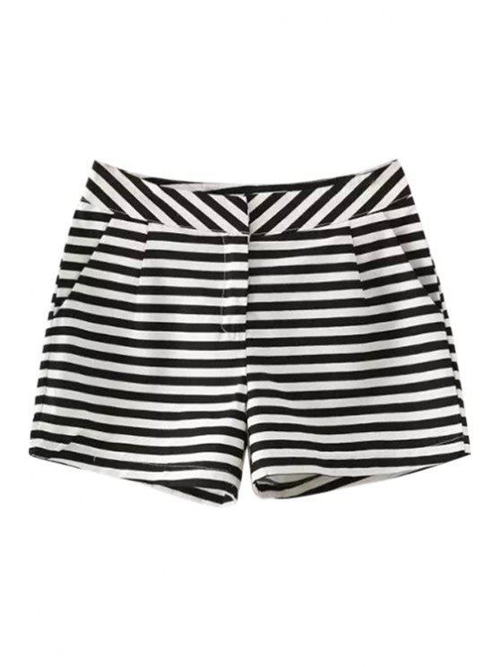 shops Striped Pattern Straight Leg Pants - STRIPE S