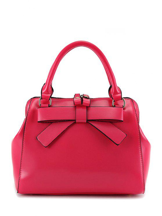 lady Candy Color Bowknot Tote Bag - ROSE