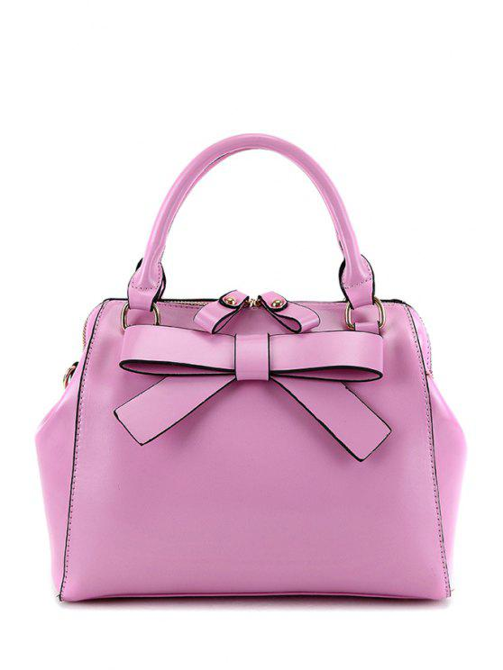 ladies Candy Color Bowknot Tote Bag - PURPLE