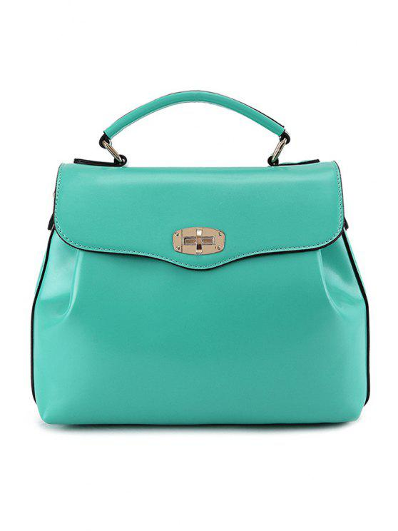 new Candy Color Hasp Tote Bag - GREEN