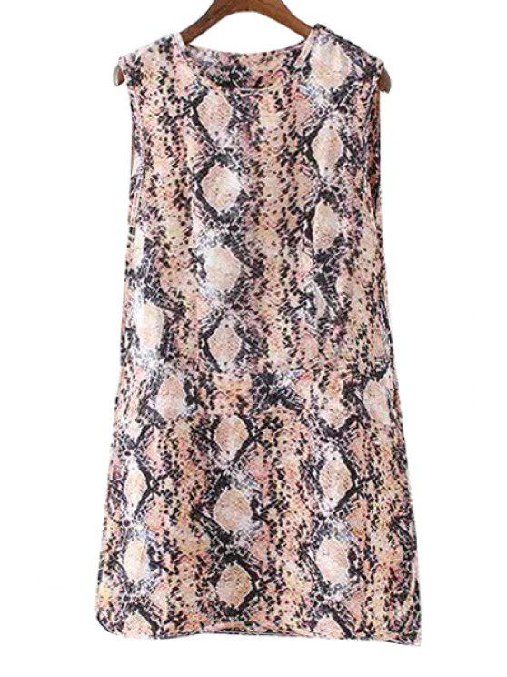 outfits Snake Print Straight Sundress - COLORMIX S