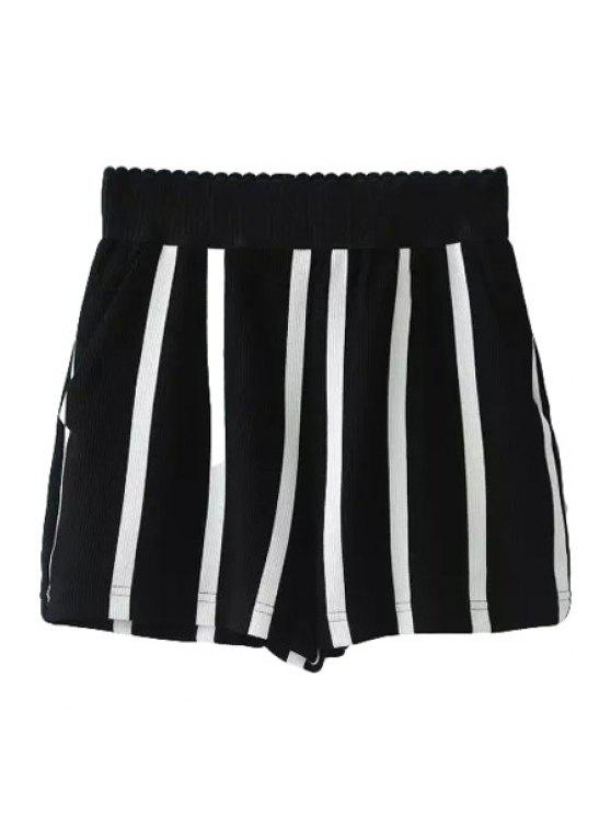 latest Stripe Elastic Waisted Shorts - STRIPE S