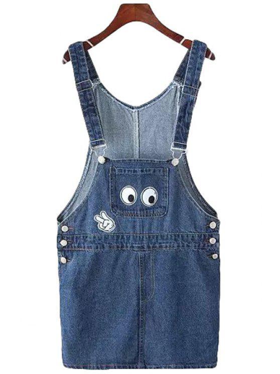women's Eyes Finger Applique Dress - BLUE ONE SIZE(FIT SIZE XS TO M)