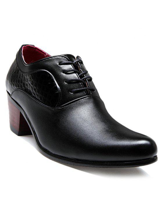 Chaussures formelles en forme de pierre et motif noir - Noir 43