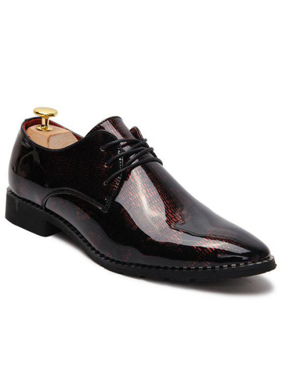 Chaussures formelles à talons pointu et en cuir verni - Rose 43