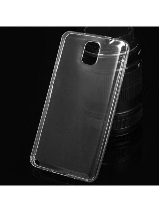 Ultrathin Transparent TPU Back Cover Case For Samsung Galaxy Note3 N9000 - Transparent