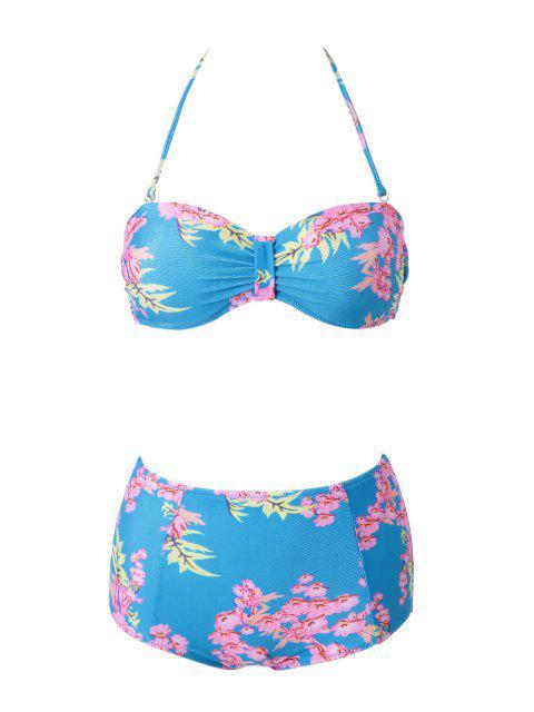 affordable Floral Print Bikini - COLORMIX XL Mobile