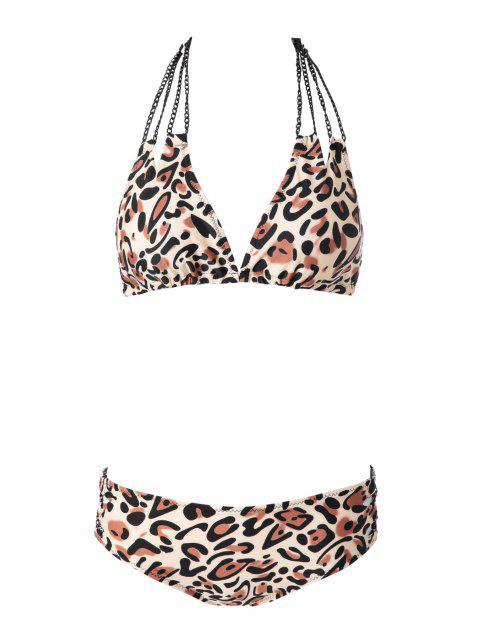 online Leopard Pattern Bikini Set - LEOPARD S Mobile