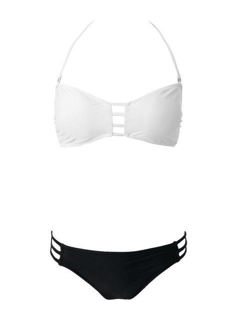 new Openwork Bandage Bikini Set - WHITE L Mobile