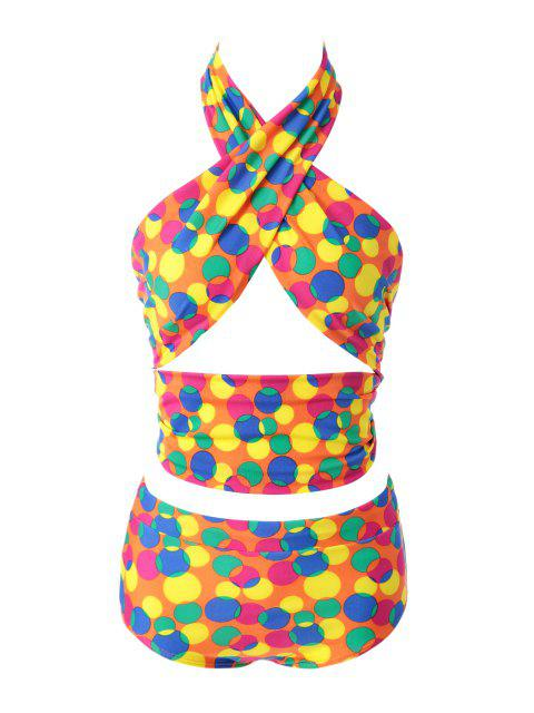 Polka Dot Bikini Set Colorful - 12# XL Mobile