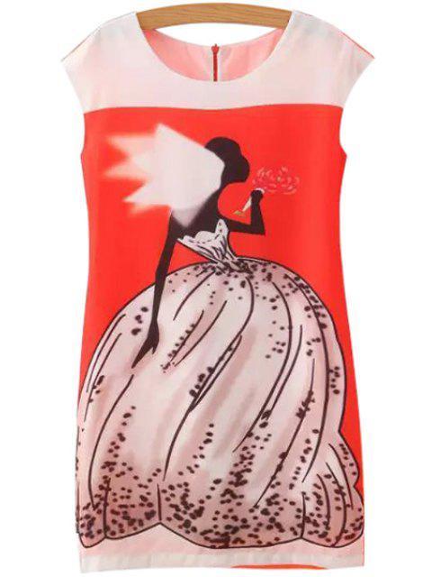 women's Bride Print Sleeveless Dress - JACINTH S Mobile