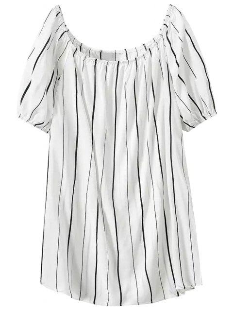 unique Stripes Short Sleeve Dress - STRIPE M Mobile