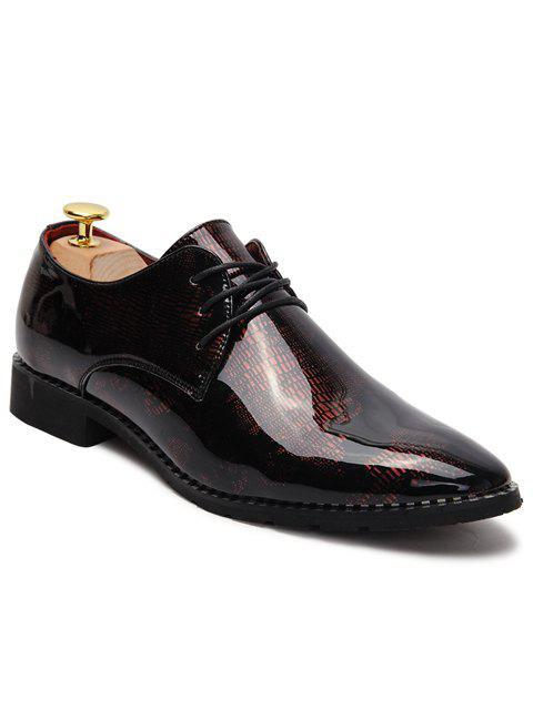 Chaussures formelles à talons pointu et en cuir verni - Rose 43 Mobile