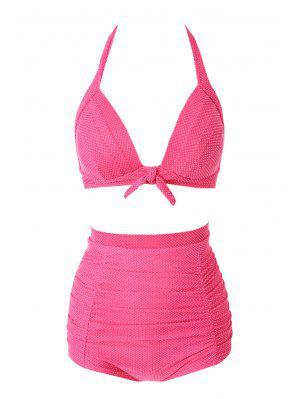 Halter Red Polka Dots Bikini Set