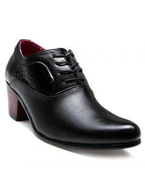 Chaussures formelles en forme de pierre et motif noir