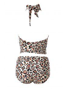 66ef778a5e 22% OFF  2019 Leopard Print High Waisted Bikini Set In 20  L