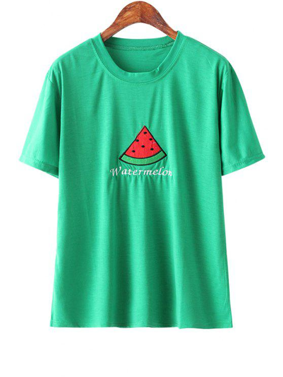 8ce39304 26% OFF] 2019 Watermelon Print Short Sleeves T-Shirt In GREEN | ZAFUL