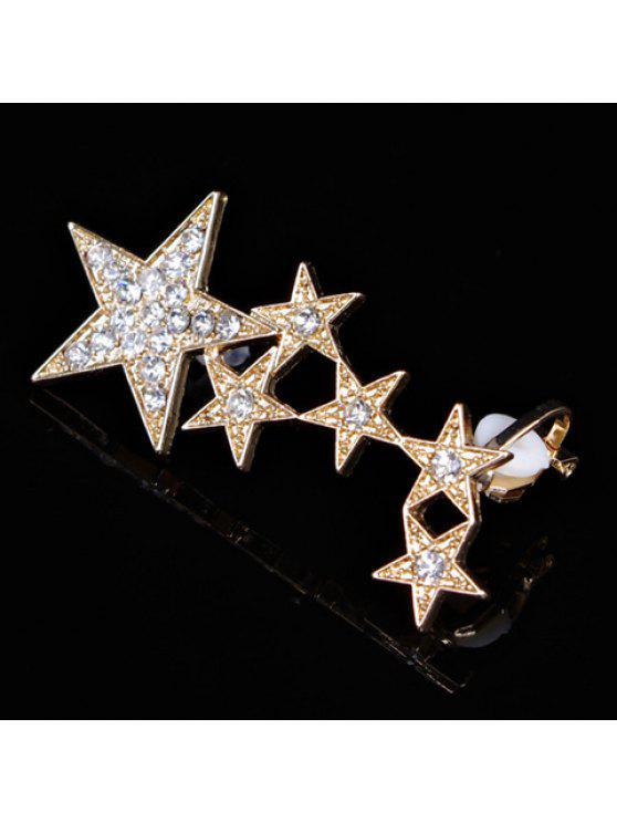 best Stylish Rhinestone Star Shape Design Ear Cuff For Women - GOLDEN