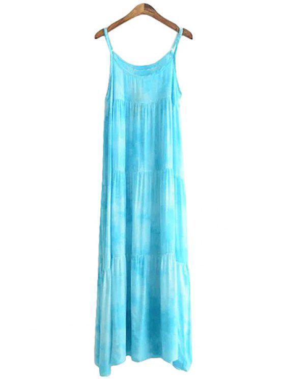 shops Print Spaghetti Strap Maxi Dress - BLUE ONE SIZE(FIT SIZE XS TO M)