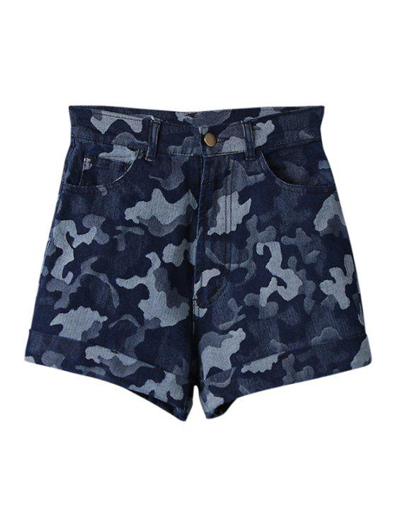 outfit Camouflage Print Zipper Fly Shorts - AS THE PICTURE 25