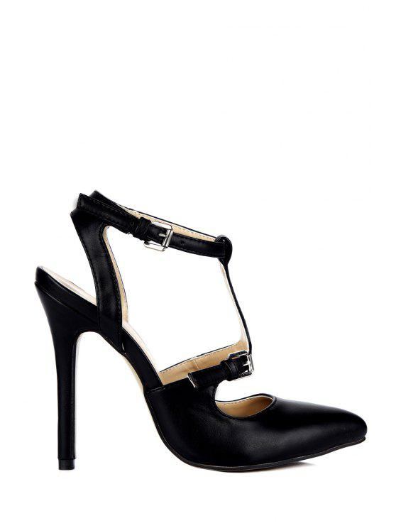 best Sexy High Heel Pointed Toe Sandals - BLACK 35