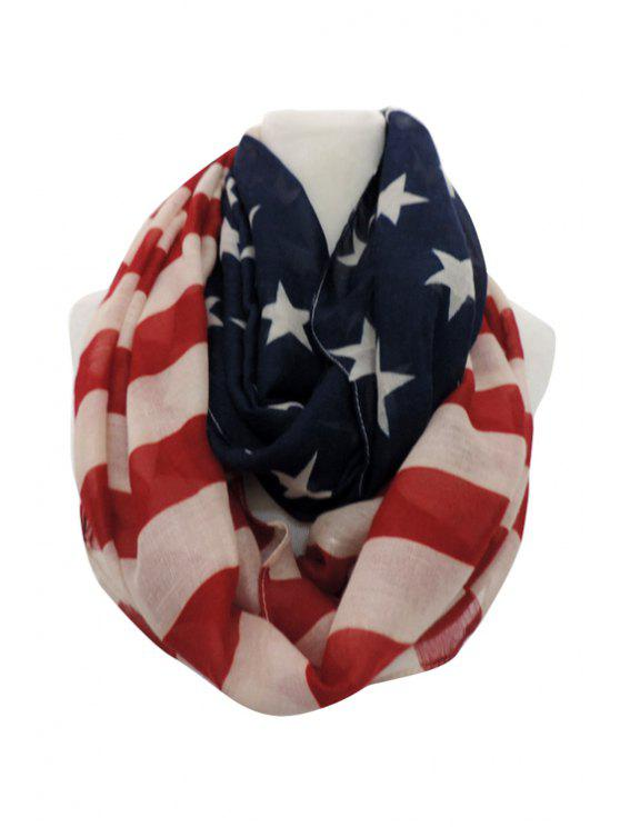 new American Flag Print Neck Warmer - RED