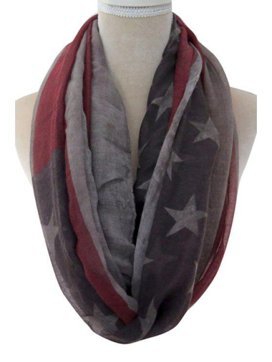 best Color Block American Flag Neck Warmer - GRAY