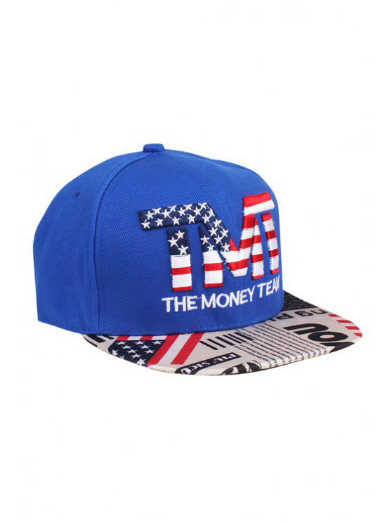 women's American Flag Letter Embroidery Baseball Cap - BLUE