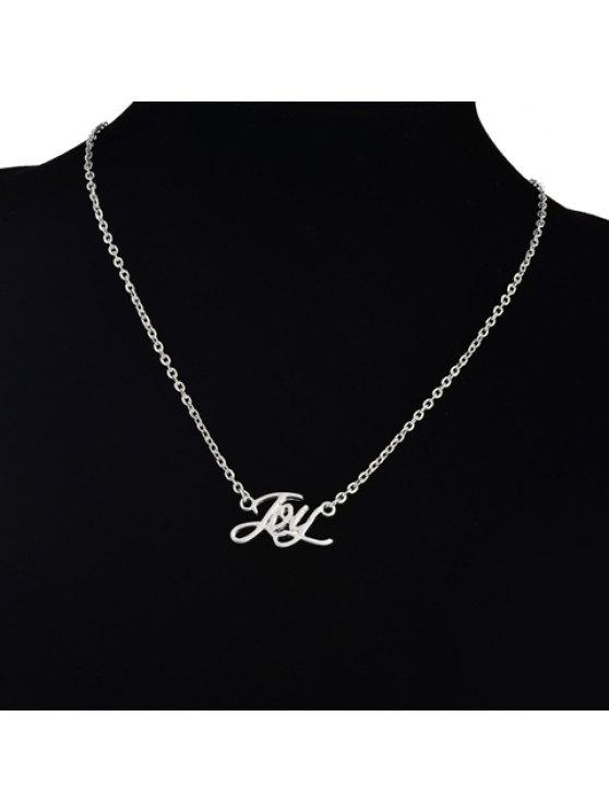 affordable Laconic English Letter Pendant Necklace For Women - SILVER