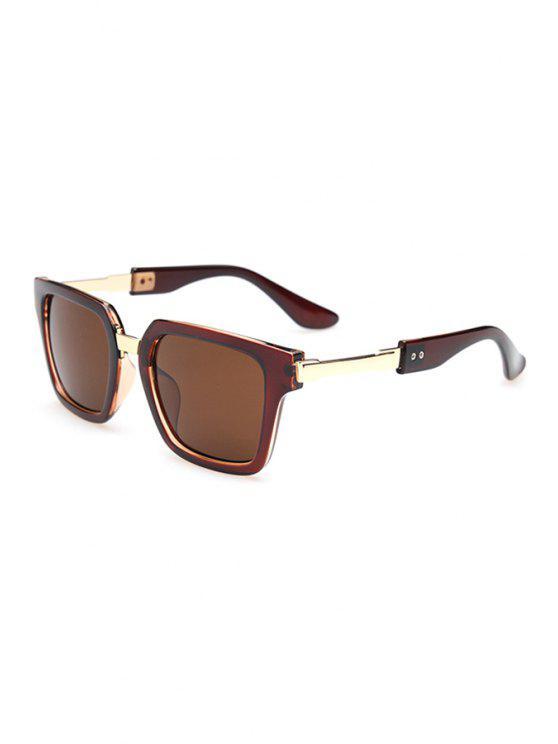 shop Metallic Splice Sunglasses - TEA-COLORED