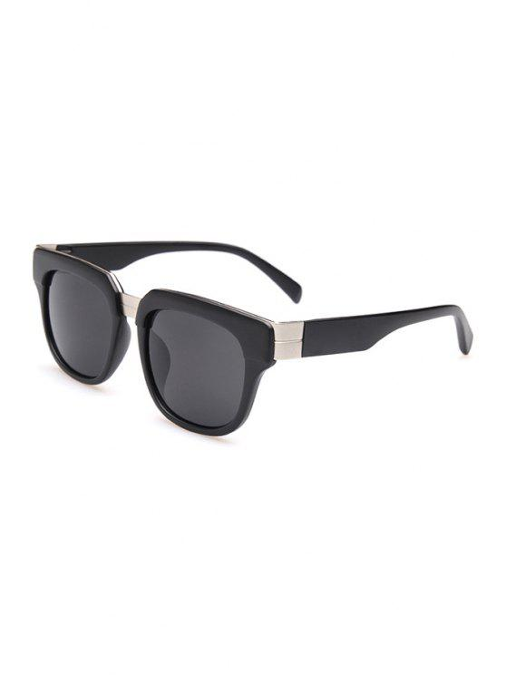 ladies Matte Black Square Sunglasses - BLACK