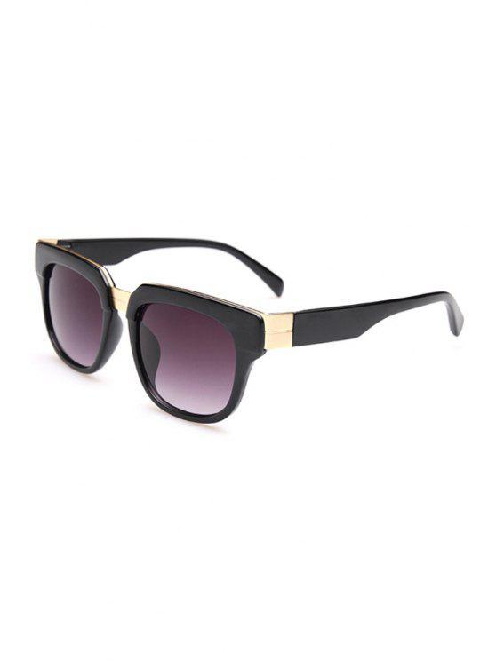 lady Full Frame Square Sunglasses - BLACK