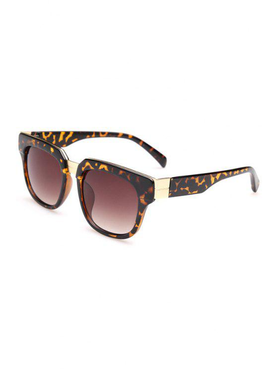 hot Leopard Pattern Full Frame Sunglasses - DEEP BROWN