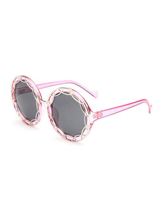 outfits Hollow Out Alloy Transparent Sunglasses - PINK