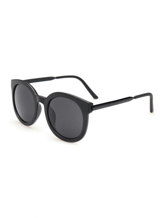 affordable Alloy Splice Solid Color Sunglasses - BLACK