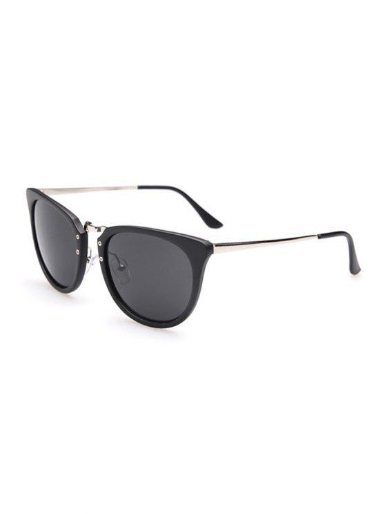 Alloy Splice Oval Frame Sunglasses - Plata