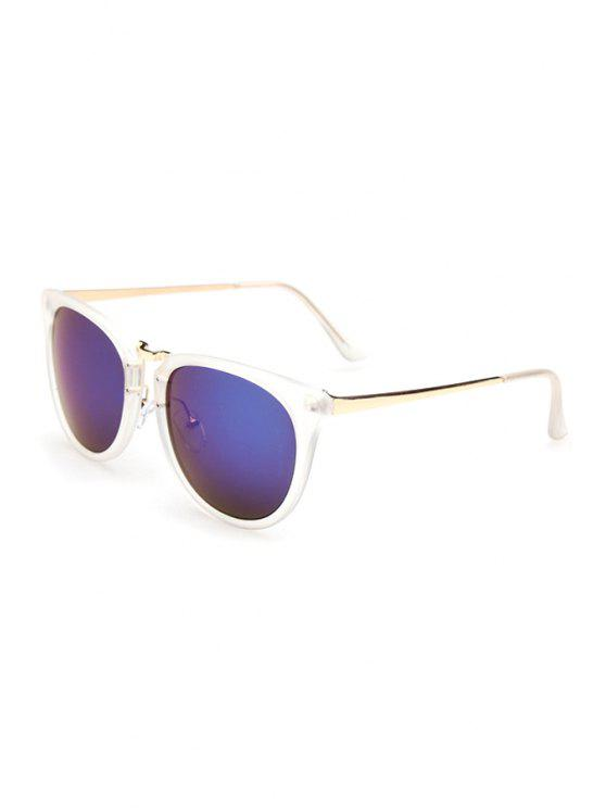 best Alloy Splice Transparent Frame Sunglasses - BLUE