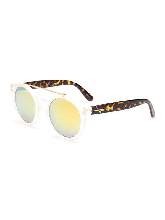 new Transparent Splice Leopard Sunglasses - TRANSPARENT