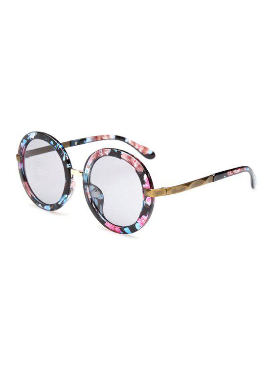 hot Flowers Unsmooth Alloy Splice Sunglasses - RED