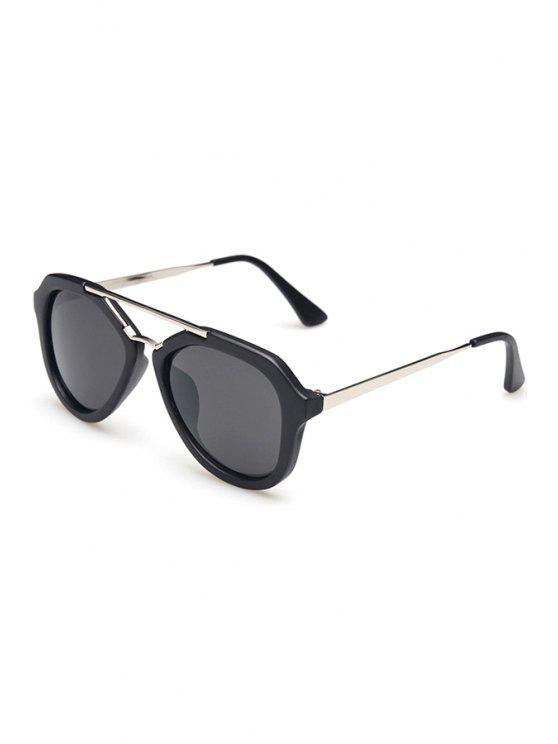 fashion Matte Black Full Frame Sunglasses - BLACK