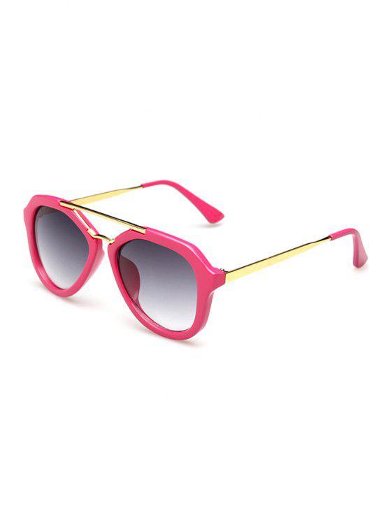 chic Alloy Splice Design Sunglasses - ROSE