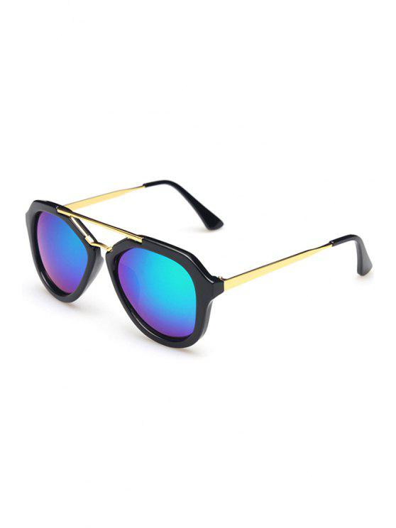 affordable Alloy Photochromic Lenses Sunglasses - BLUE