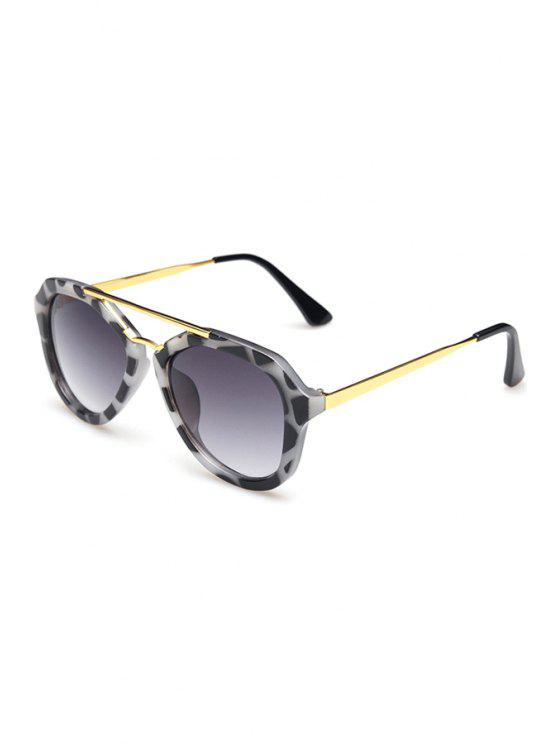 women Alloy Dappled Frame Sunglasses - BLACK