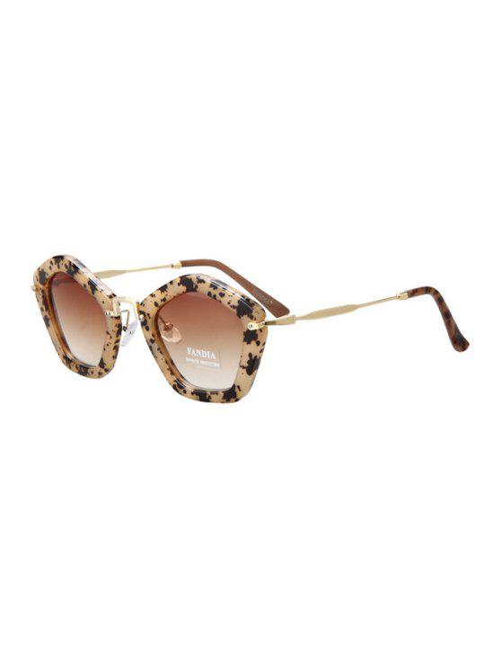 new Hawksbill Pentagonal Frame Sunglasses - AS THE PICTURE