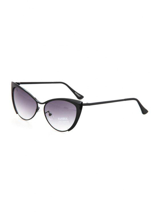 outfit Butterfly Wings Shape Frame Sunglasses - GUN METAL