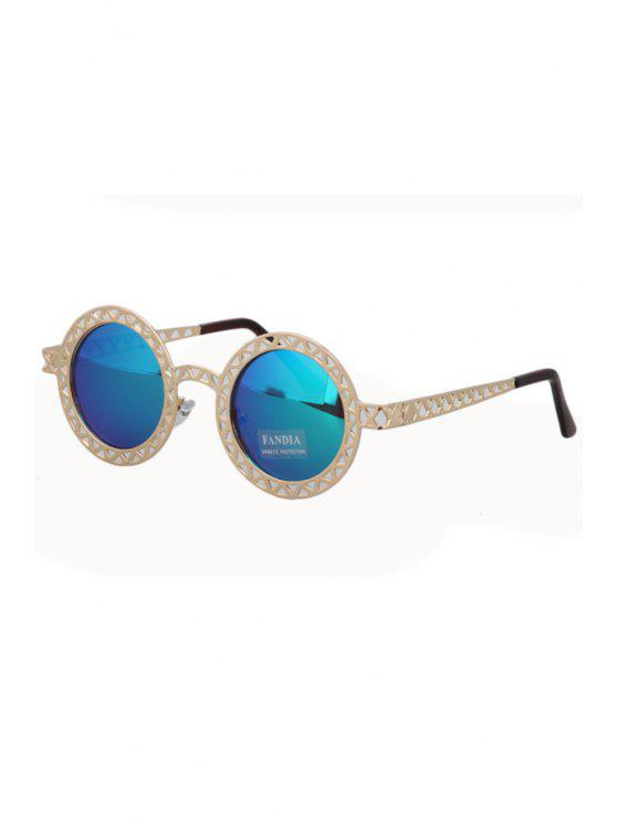075d7a1b9 29% OFF] 2019 Hollow Out Zig Zag Discoloration Sunglasses In BLUE ...