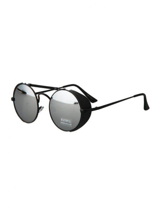 outfit Chain Alloy Frame Sunglasses - BLACK